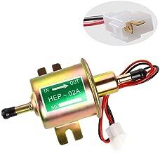 Electric Fuel Pump 12V Universal Inline Fuel Pump for Lawn Mover & Carburetor Low Pressure Gas Diesel Small Engine Fuel Pump 2.5-4 PSI HEP-02A