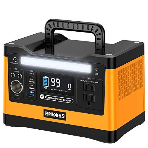 SAKOBS ポータブル電源 大容量 500W 純正弦波 LCD大画面表示 150000mAh/540Wh 家庭用蓄電池 PSE認証済み 急...