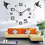 Hyllbb Anself DIY Reloj de Pared Grande Etiqueta de Espejo 3D Calcomanía de Pared Decoración Reloj Habitación Decoración 37 Pulgadas