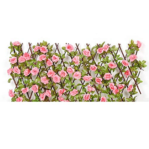 HiFuture Garden Trellis Expanding Wooden Trellises,Artificial Evergreen Leaf Hedge Trellis Retractable Fence Flower Stand Artificial Hedges Fence And Faux Ivy Vine Leaf Decoration For pretty well