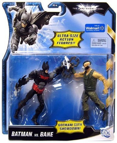 The Dark Knight Rises Gotham City Showdown Batman vs. Bane Exclusive Action Figure 2-Pack [Red & Black vs. Green]