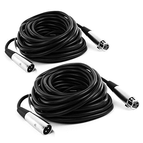 FrontStage 2 x XLR-Kabel 10m männlich zu weiblich mit hochwertigen Anschlüssen