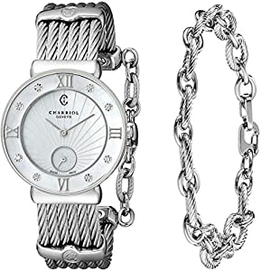 Charriol Women's ST30SD560008 St Tropez Analog Display Swiss Quartz Silver Watch Sale and For Sale and review