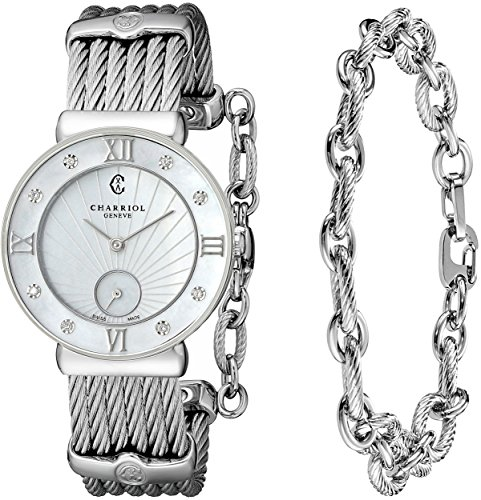 Charriol St-Tropez Women's 30mm Sapphire Glass Quartz Watch ST30SD.560.008