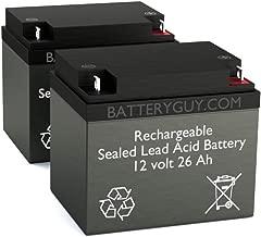 BatteryGuy BG-12260NB (Qty of 2) 12V 26ah Rechargeable SLA Battery