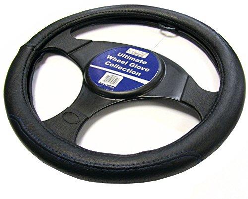 Autolenkrad mit Lederbezug von XtremeAuto®, mit blauer Naht, XAWG03B