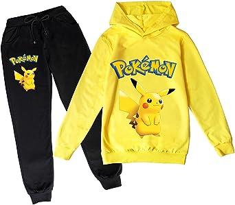 Proxiceen Pokémon hoogwaardige capuchontrui voor jongens en meisjes, Pikachu cosplay met lange mouwen, hoodies sweatshirt, sportpak, joggingpak