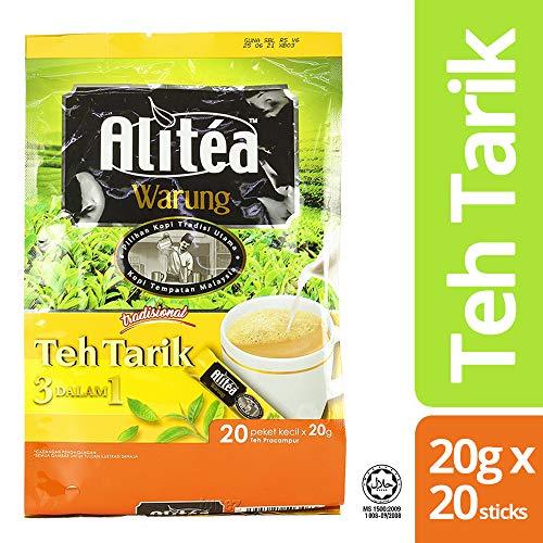 Power Root Alitea Malaysia Warung 3 In 1 Instant Teh Tarik Classic Pulled Milk Tea Halal Malaysia Teatime Breakfast Drinks 20g (0.71 oz) x 20 Sticks