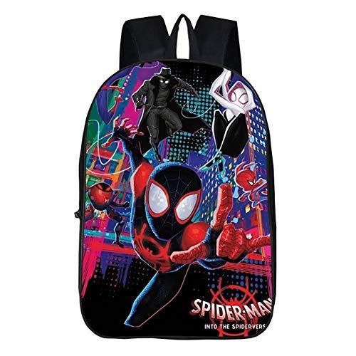 Miles Backpack,3D Superhero Children School Book Bag Kids Printing Backpacks