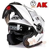 バイクヘルメット システムヘルメット フルフェイス ジェット ダブルシールド 今年バージョンアップ PSCマーク付き AK-919[03.商品3/XXL]