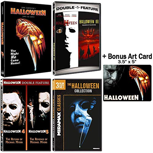 Halloween: Complete 8 Movie DVD Collection with Bonus Art Card