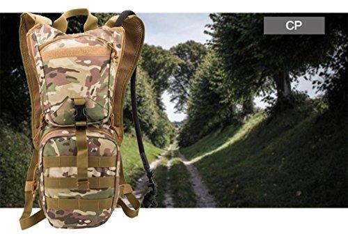 Camouflage 3L randonnée d'eau de stockage sac portable imperméable en nylon sac à dos en plein air voyage alpinisme cyclisme Camping Pack d'eau , CP CAMOUFLAGE