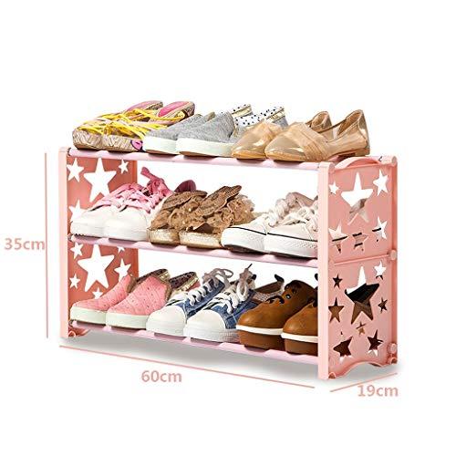 Sterne Schuhregal für Kinder, Stapeln des Schuh-Turm-Organisators über der Tür, einschraubbare Stellfüße Schmale Schuhablage Ablagefach...