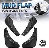 4 Piezas Guardabarros para Mazda 6 (GJ) Atenza 2013 2014 2015 2016 2017, Polvo Prueba Delantero Trasero Mud Guard Proteccion Styling Set Accessories