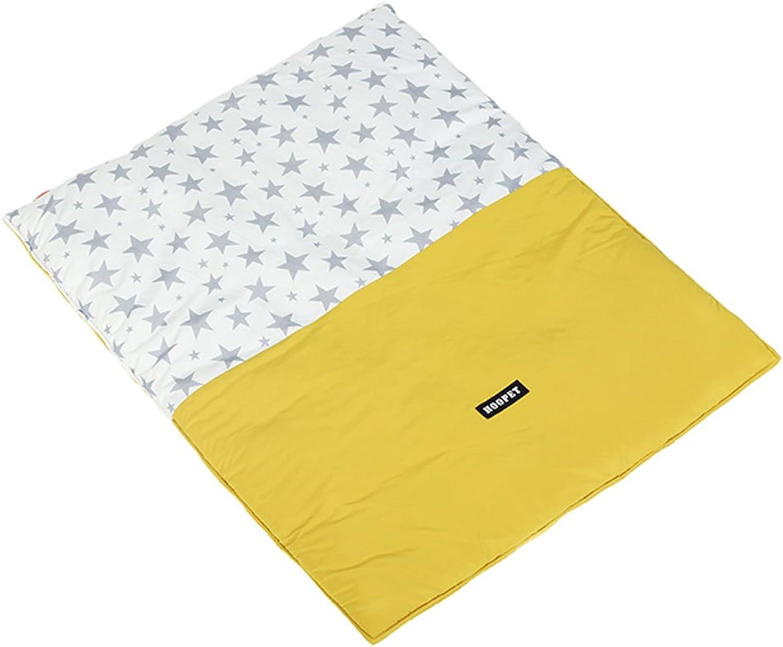 CS Pet Mat Cat Pad Mat Mattress Not Sticky Hair Printing Blanket (color   Yellow, Size   S 63  43CM)