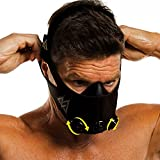 TRAININGMASK Training Mask 2.0-36 Levels of Resistance | Workout Fitness Mask for Running and Breathing Resistance Training, Elevation Mask, Cardio Mask (Black + Turn Flow, Large)