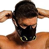 TRAININGMASK Training Mask 2.0-36 Levels of Resistance | Workout Fitness Mask for Running and Breathing Resistance Training, Elevation Mask, Cardio Mask (Black + Turn Flow, Medium)