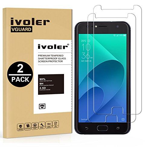 iVoler [2 Pack] Pellicola Vetro Temperato per ASUS Zenfone 4 Selfie ZD553KL 5.5'', Pellicola Protettiva, Protezione per Schermo