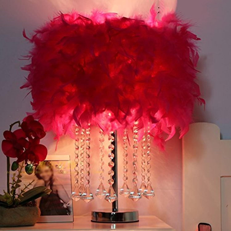 Kreative Kristallfeder Schlafzimmer Bedside Einfache Tischlampe (Farbe   7 )