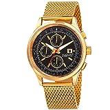 Reloj August Steiner para Hombres 42mm, pulsera de Acero Inoxidable