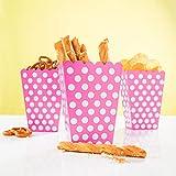 PartyMarty 24x Snackbox Popcorn Tüte Happy Dots in Pink - wunderschöne Boxen mit Punkten für Snacks, Süßigkeiten & Geschenke GmbH®