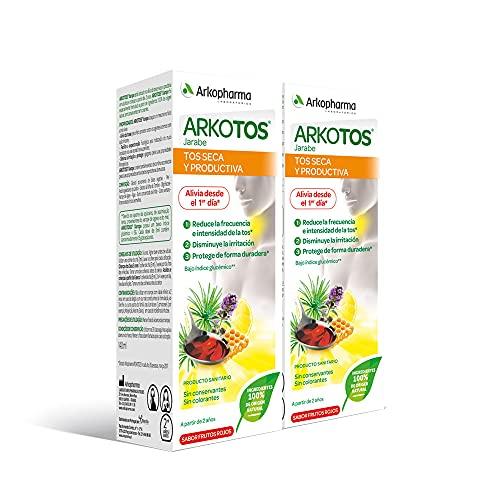 Arkopharma Arkotos Tos Seca Y Productiva 140 Ml Pack X 2, Alivia La Tos Seca, Disminuye La Irritación, Hidrata Y Protege La Garganta, 280 Mililitro