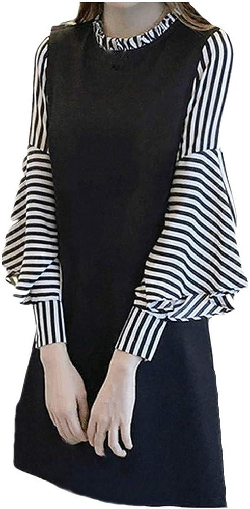 Fashion Women's Plus Size Dress O-Neck Short Bell supreme Sleeve S Las Vegas Mall Long