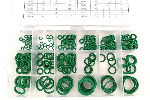 WeberTools FD-1048 O-Ringe Klimaanlage HNBR Dichtungsringe Grüne Dichtringe KFZ, 3-22mm, 225-tlg