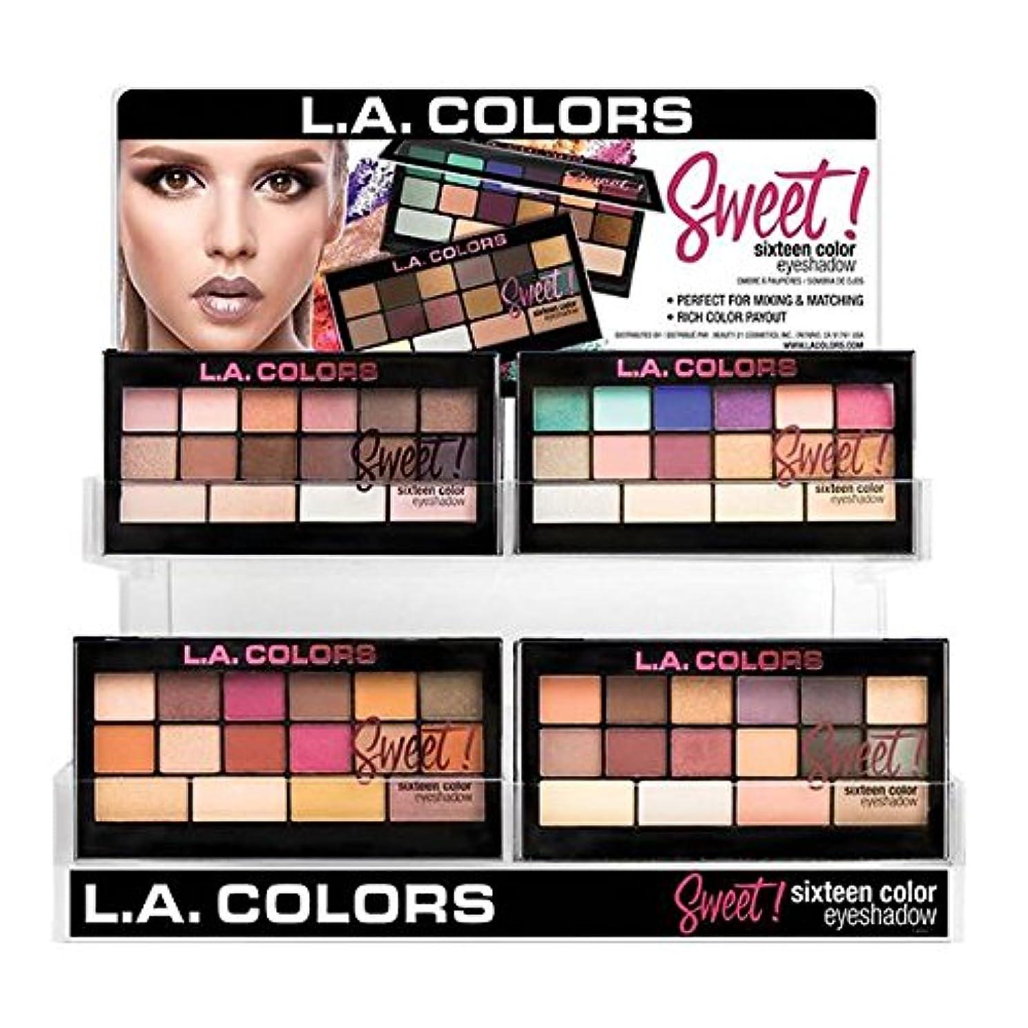 素晴らしいですマディソン中でL.A. COLORS Sweet! 16 Color Eyeshadow Display Set, 60 pcs (並行輸入品)