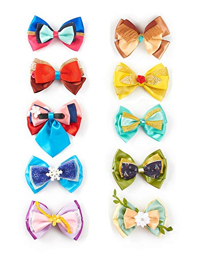 10pcs Princess Character Inspired Hair Bows Clips for Girls Women Costume Dress Up Accessories