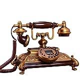 YUBIN Telefono Antique Style Style Brightline Linea Vintage Telefono Europeo Vecchio Stile Classico Telefono Fisso con ID chiamante, Schermo con Blue LHT, Chiamata a Mani libere, suoneria Elettronica