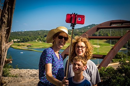 Selfie Stick iPhone 6 and iPhone 6 Plus Remote Bluetooth Shutter. Best Self –Portrait Monopod Selfie Pole New and Improved Compatible with iPhone 5, 5S, 5C, Android