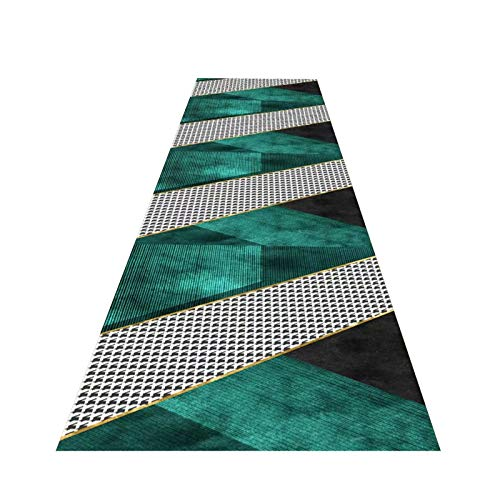 GuoWei Simple Pattern Corridor Rugs, Anti Slip Narrow Entryway Carpets, Washable Carpets for Living Room And Kitchen, Custom Length (Color : A, Size : 0.6x8m)