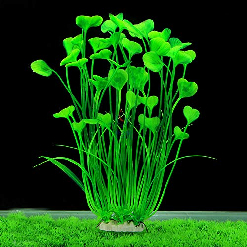 minerlele 15.7 inch Tall Artificial Aquarium Plants Plastic for Fish Tank Decoration Ornament Large Plant, Safe for All Fish 7.09 inch Wide