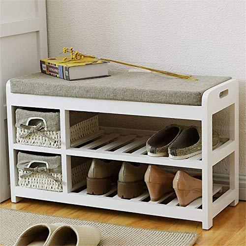 HLL Zapatero de madera maciza de almacenamiento de múltiples capas para el hogar o el grupo de dispositivos, zapatero, color marrón