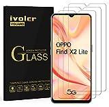 ivoler 3 Stücke Panzerglas Schutzfolie für Oppo Find X2 Lite, Panzerglasfolie Folie Bildschirmschutzfolie Hartglas Gehärtetem Glas BildschirmPanzerglas Bildschirmschutz für Oppo Find X2 Lite