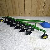 Vehículo de construcción Juguetes Cargador Gigante Reclamador Reclamador Maquinaria agrícola Tractor Accesorios de arado Cuatro ruedas Bulldozer Pala Ingeniería Modelos de aleación para niños 1:16