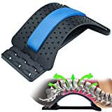 Back Stretcher For Lower Back Pain Relief-Multi Level Spine Deck Lumbar Stretcher- Magic Back Decompression Pain Relief for Herniated Disc; Sciatica; Scoliosis; Muscle Pain; Upper Back Cracking Device