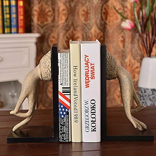 HJKH Buchstütze Finger Bookend for Bibliothek Schule Office Home-Dekor-Set aus 2 Art Bookend Rustikaler Stil Buddha Modell Buchstütze (Color : Buddha Finger, Size : 14x11x27cm)