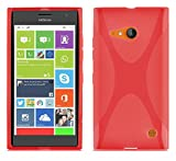 Cadorabo Case works with Nokia Lumia 730 in CANDY APPLE RED