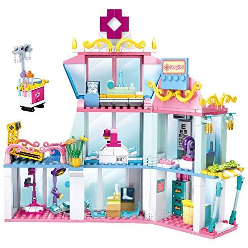 Bloques de construcción 459 Uds Pink Dream Series Bloques De Construcción Centro Médico City Hospital Niñas Amigos Ladrillos Con Figuras Juguetes Para Niños Regalos