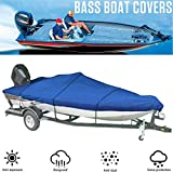 RTMX&kk Bass Boat Outdoor Dustproof Storage Cover, Boat Accessory Storage Cover, Heavy Duty Marine Trailerable 300D...
