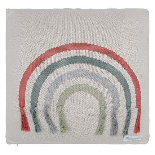 Kindsgut Baumwollkissen-Bezug aus 100% Baumwolle, 45x45 cm, kuschelig weich und Öko-Tex zertifiziert, dezente Farben und schlichtes Design, ideal für jedes Kinderzimmer, Regenbogen
