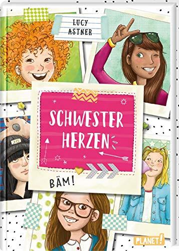 Schwesterherzen 1: Eine für alle, alle für DICH!: Amüsante Geschichten für Mädchen ab 10 Jahren, mit Sticker, ideal als Geschenk