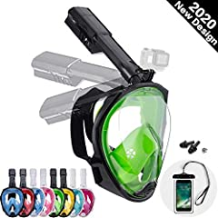 *Dekugaa full face snorkel mask has three completely separate air channels(Intermediate air intake, air outlet on both sides) which can effectively prevent the re-inhalation of exhaled CO2, thus ensuring that you inhale fresh air every time. When you...