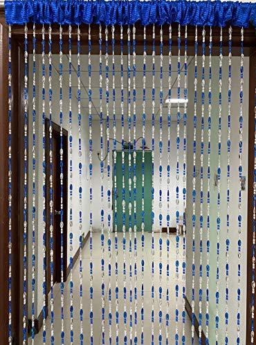 ZiDeTang Acrylic Beaded Door Curtain Home Décor Tassel Room Divider Curtain (Dark Blue, 100cm by 190cm)