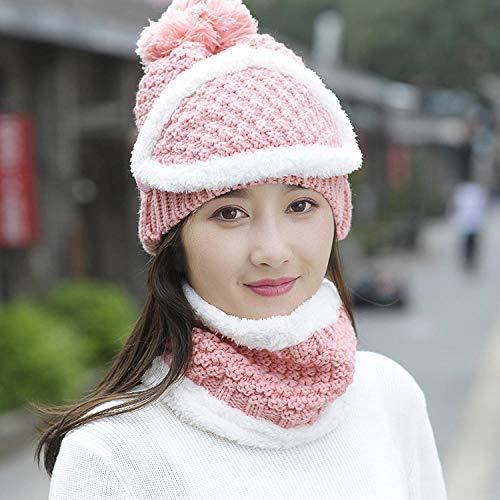 Codoyco_lothlz Hüte, Mützen & Caps Für Mädchen Winter Dicke Warme Winddichte Mode Maske Ohrenschützer Radmütze Frauen Winter-Rosa