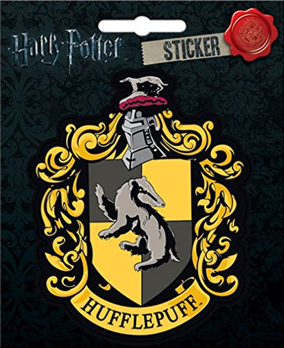 "Ata-Boy Harry Potter Hufflepuff Crest 4"" Full Color Sticker"
