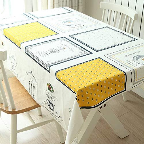 SYT Tablecloths Tissus Nappes Accueil Tissus Nappes Douces en Coton Nappes Tissus, 140x180cm, Un