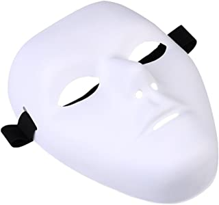 Thick Blank Male The Phantom Mask Costume White Face Mask Paintable